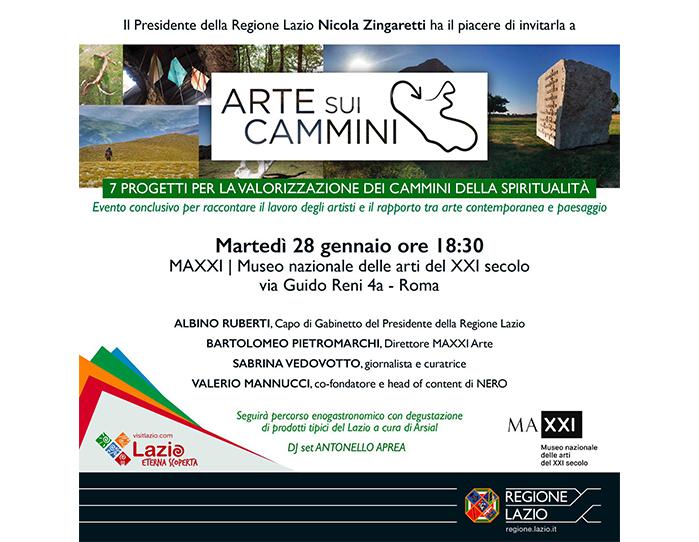 """Evento conclusivo """"Arte sui cammini"""" al MAXXI"""